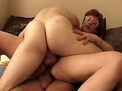 FRENCH MATURE IN GLASSES GET Dped by youthful fellows