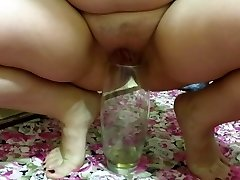 mother i'd like to fuck, pissing in a vase