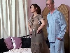 Mommy spanks Daughter and Father