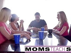 MomsTeachSex  Scorching Mom & Teenie Friends Orgy Fuck With Neighbor