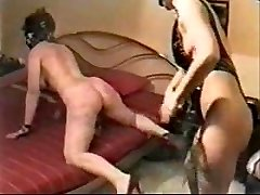 Hard whipping on my sub wife