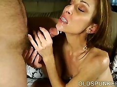 Super sexy skinny old spunker is a very sizzling fuck