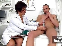 Czech nurse chick Marta old with young hj
