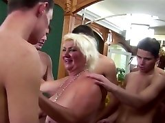 Granny Licks Asshole Five junior Studs to Cum
