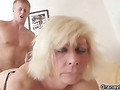 German grandmother porks hard