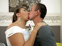 Lecherous mature lady Jodie gets drilled by a horny man