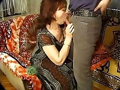 Mature gal with glasses likes getting plumbed from the back