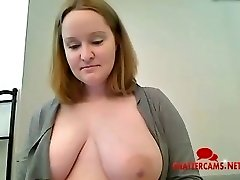 Meaty Titty Mum Bathroom Striptease