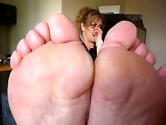 Mature smelling soles in your face