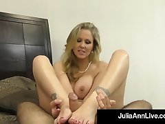 Hot Classy Cougar Julia Ann Takes A Knob In Her Mouth & Hands!