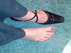 seksikas küps jala kinga fetish