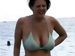 Mother In Her Bathing Suit