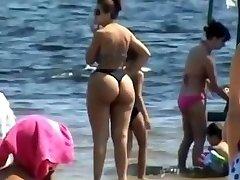 Šnipinėjimo Mama - Nekaunīgi Užpakalis - Paplūdimio voyeur - Tiesus Big Ass - Išsipūtęs Granny