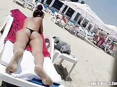 Thong Ass Bathing Suit super-naughty Milfs Beach Voyeur HD