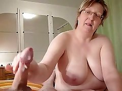 homemade, lush granny wanks cock