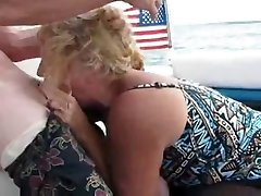 Amateur Mother inhale On A Boat