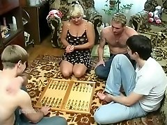 Mature wifey gang-fucked