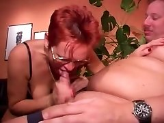 Pierced Mature in Glasses Boinks Fatty