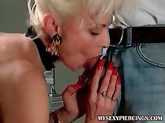 My Fabulous Piercings Hot french granny with pierced puss anal