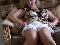 Granny upskirt & stockings