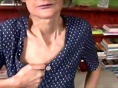 Ugly grandmother get smashed
