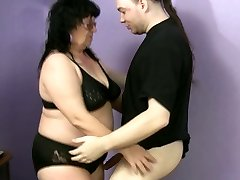 Ugly fatso Ramona desires to please a strong super hot knob