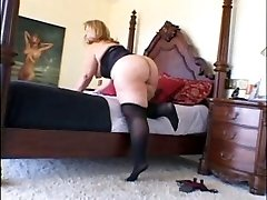 Mature BBW Enjoys Dark-hued Stiffy