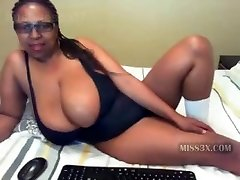 Ebony mummy and her mega big boobs