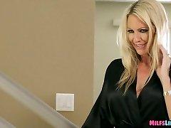 Blonde Cougar Sucks Off nerds big rod