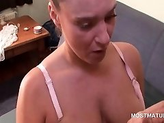 Hot milk cans mature teasing her hungry wet cunt