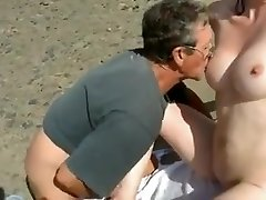 Nude Beach - Bashful Wife Plays with Strangers