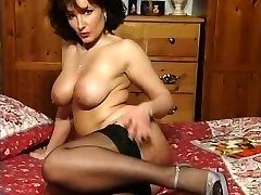 Hot Brunette Big-chested Milf Teasing in various outfits V WONDERFUL!