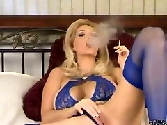 Scorching Mature In Undergarments and Heels Smoking and Diddling