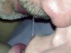Drooling and kissing! Close up! Blowing bubbles!!!