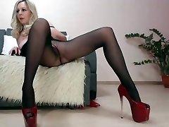 Brandus lady webcam pėdkelnės rodyti
