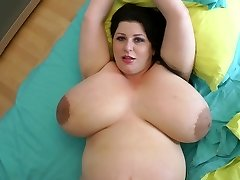 biggest titties ever on a 9 month pregnant milf