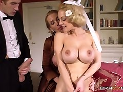 Young rich boy had hard threesome with 2 big-chested mommies