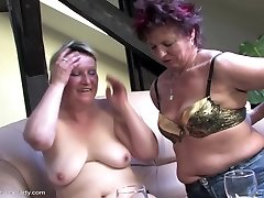 Mature orgy soiree with moms and boy