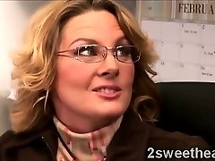 Enormous stacked mature secretary trains her fresh sexy mate