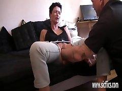 Cavernous pussy handballing orgasms
