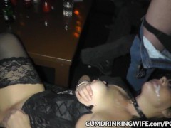 One wifey creamed by hundreds of fellows