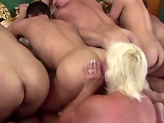Granny Rims 5 Young Studs to Cum