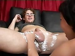 Mom Shaves Then Blows Fellow's Cock