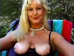 Mature Goddess Lynn Nailed Poolside