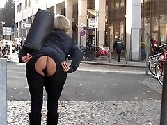 Mom and buttfuck butt-plug in public