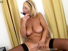 Beautiful mature mom first time on web cam