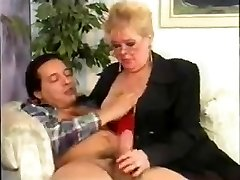 BBW grandmother gets pummeled and facialized