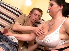 Stellar mother boinked hard by young boy and squirts