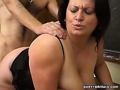 BBW Angel Torn Up In Classroom