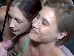 Amazing Endless Jizz Shot on Hot Cougar Face